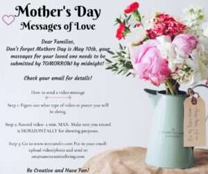 mothers day message of love flier